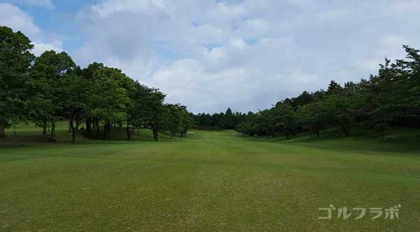 沼津ゴルフクラブの愛鷹3ホールの2打目