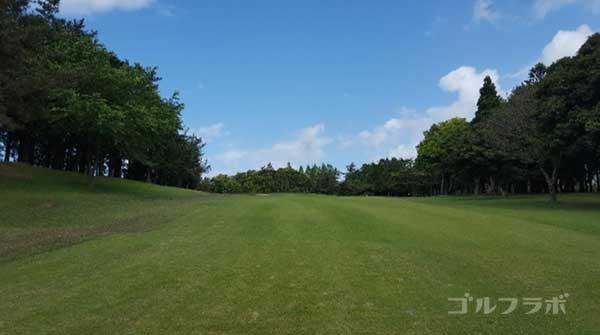 沼津ゴルフクラブの愛鷹8ホールの2打目