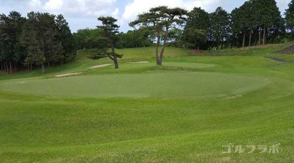 沼津ゴルフクラブの愛鷹9ホールのグリーン沼津ゴルフクラブの愛鷹9ホールのグリーン