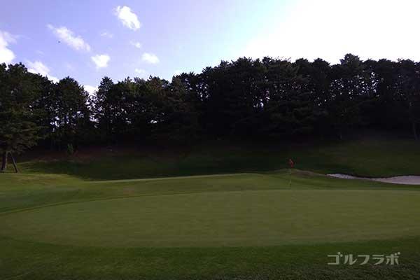 沼津ゴルフクラブの伊豆4ホールのグリーン