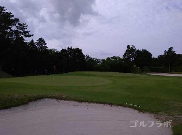 沼津ゴルフクラブの伊豆1ホールのグリーン