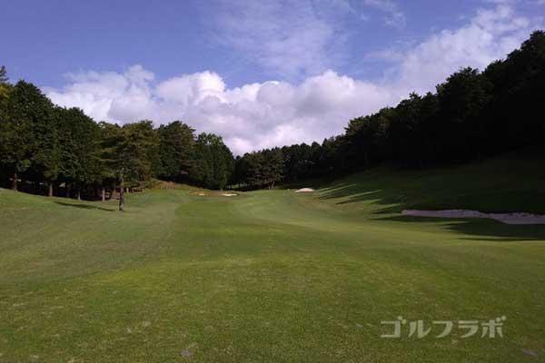 沼津ゴルフクラブの伊豆4ホールの2打目