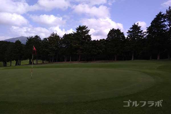 沼津ゴルフクラブの伊豆6ホールのグリーン