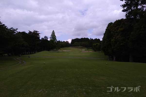 沼津ゴルフクラブの伊豆8ホールのティーグラウンド