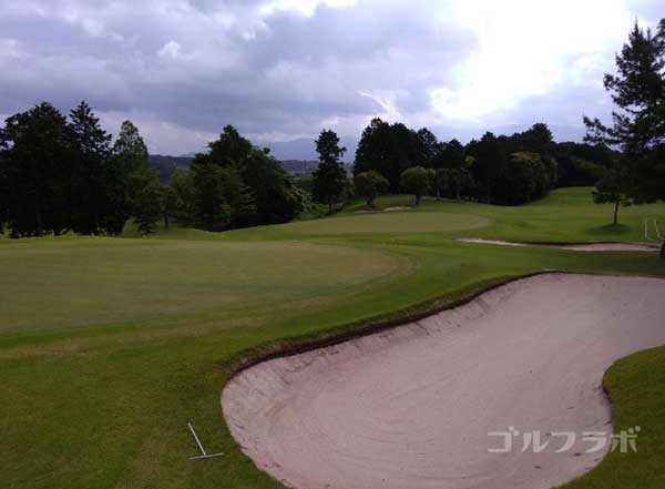 沼津ゴルフクラブの伊豆8ホールのグリーン