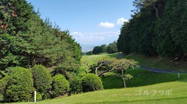 沼津ゴルフクラブの駿河2ホールのティーグラウンド