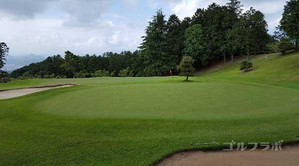 沼津ゴルフクラブの駿河8ホールのグリーン