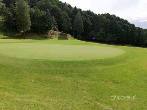 レンブラントゴルフ倶楽部御殿場の富士コース3番ホールのグリーン