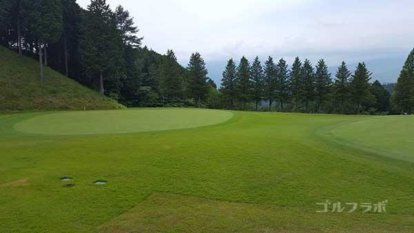 レンブラントゴルフ倶楽部御殿場の駿河コース1番ホールのグリーン