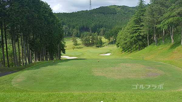 レンブラントゴルフ倶楽部御殿場の駿河コース5番ホールのティーグラウンド
