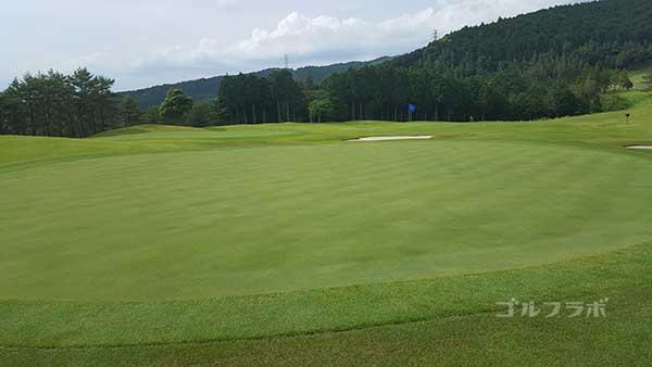 レンブラントゴルフ倶楽部御殿場の駿河コース6番ホールのグリーン