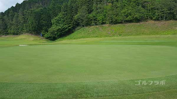 レンブラントゴルフ倶楽部御殿場の駿河コース7番ホールのグリーン