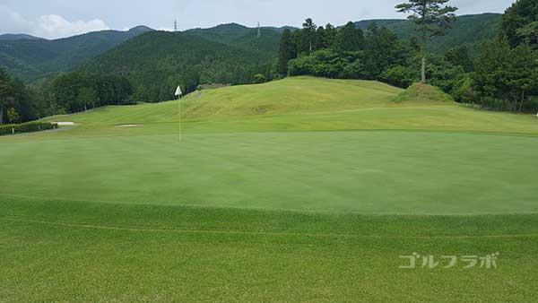 レンブラントゴルフ倶楽部御殿場の駿河コース8番ホールのグリーン