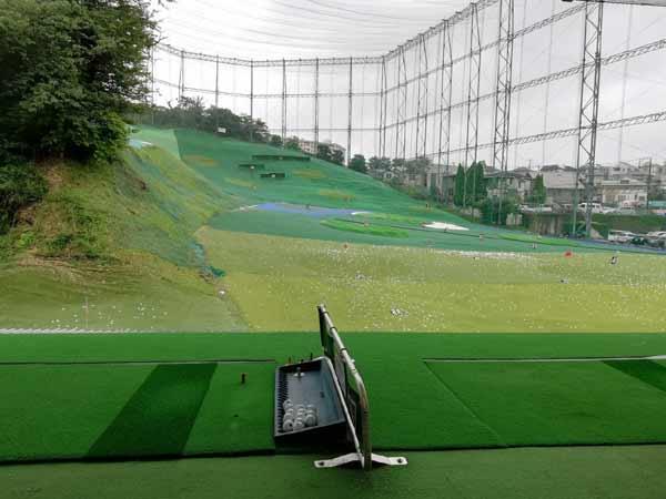永田台ゴルフの打席