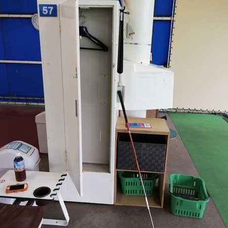 永田台ゴルフのロッカー
