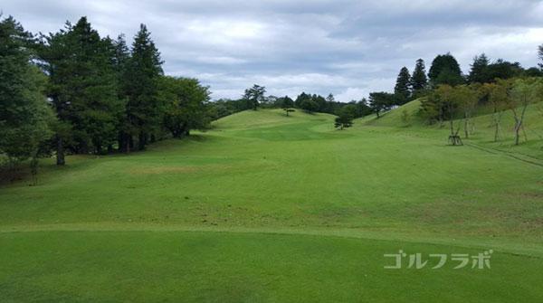 凾南ゴルフ倶楽部の10番ホールのティーグラウンド