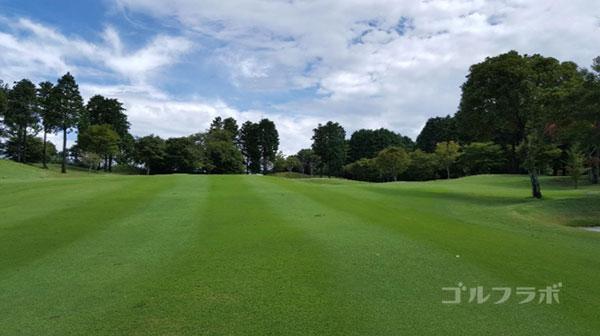 凾南ゴルフ倶楽部の12番ホールの2打目