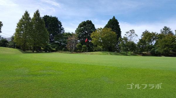 凾南ゴルフ倶楽部の13番ホールのグリーン