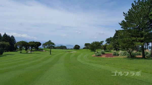 凾南ゴルフ倶楽部の17番ホールの3打目
