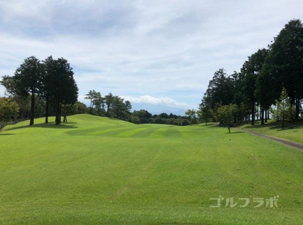 凾南ゴルフ倶楽部の2番ホールのレディースティ
