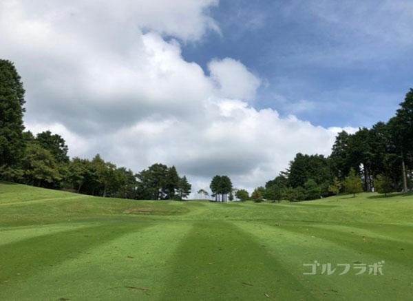 凾南ゴルフ倶楽部の3番ホールの2打目