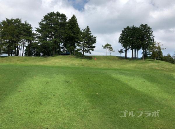 凾南ゴルフ倶楽部の3番ホールのグリーン
