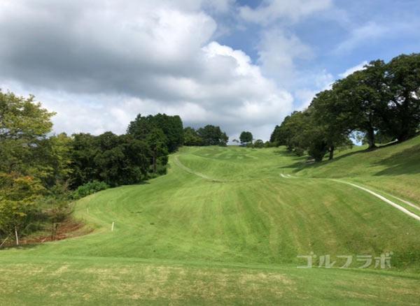 凾南ゴルフ倶楽部の3番ホールのティーグラウンド