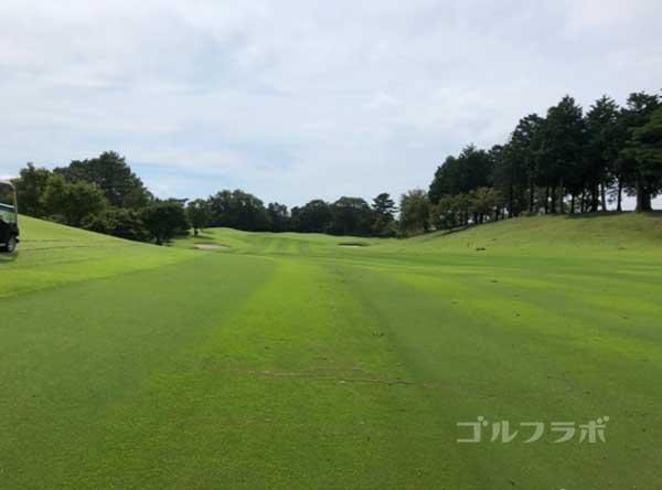 凾南ゴルフ倶楽部の5番ホールの2打目