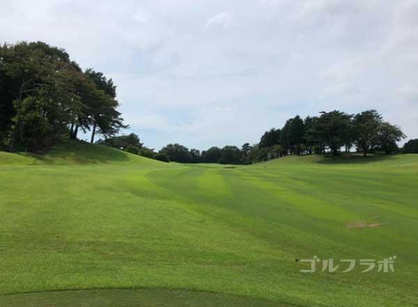 凾南ゴルフ倶楽部の5番ホールのレディースティ