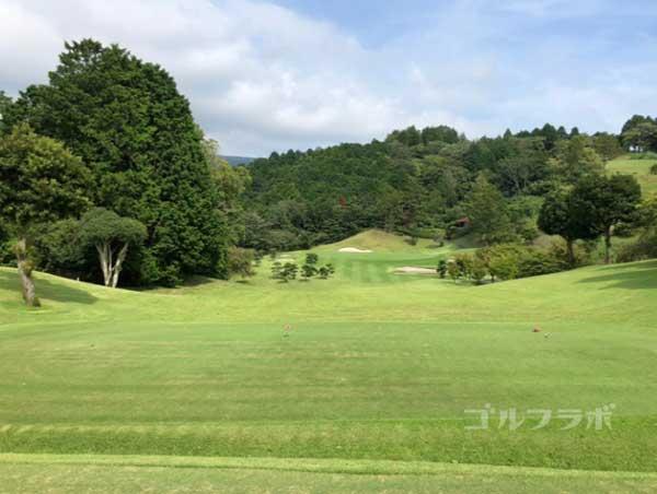 凾南ゴルフ倶楽部の7番ホールのティーグラウンド