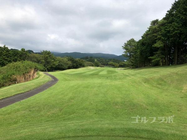 凾南ゴルフ倶楽部の9番ホールのレディースティ