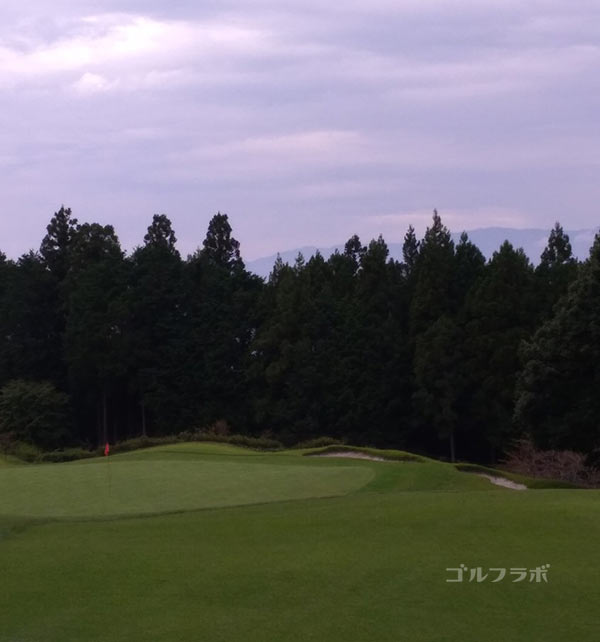 G8富士カントリークラブの16番ホールのグリーン