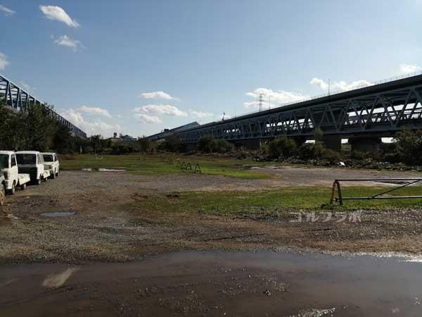 江戸川ラインゴルフ練習場は雨に弱い
