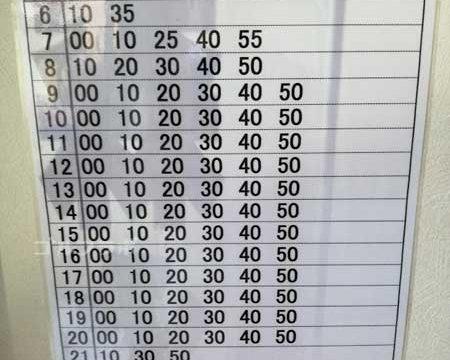 新小岩サニーゴルフのバスの時刻表