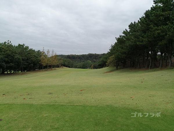 鎌倉パブリックゴルフ場の11番ホールのレディースティ