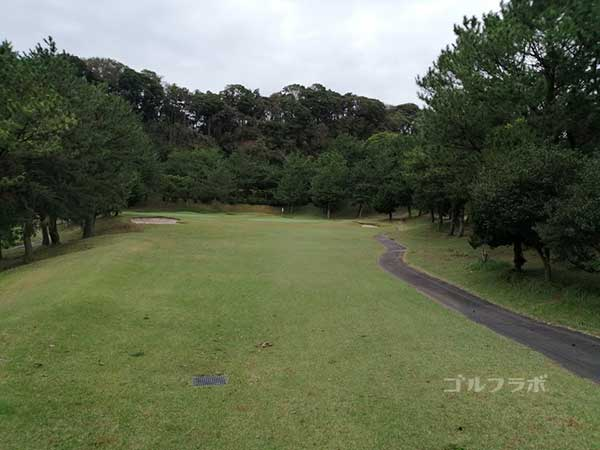 鎌倉パブリックゴルフ場の12番ホールのレディースティ