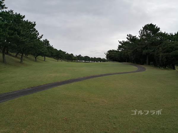 鎌倉パブリックゴルフ場の13番ホールのレディースティ