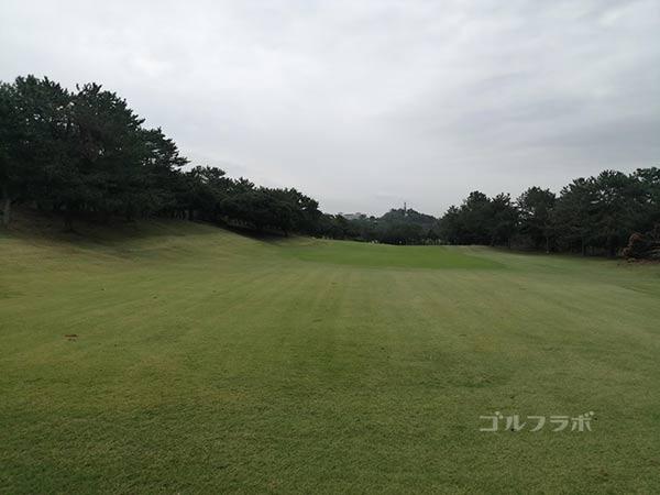 鎌倉パブリックゴルフ場の17番ホールのレディースティ