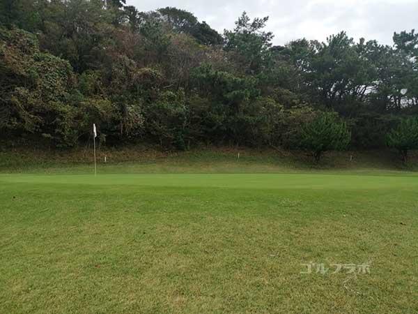 鎌倉パブリックゴルフ場の5番ホールのグリーン