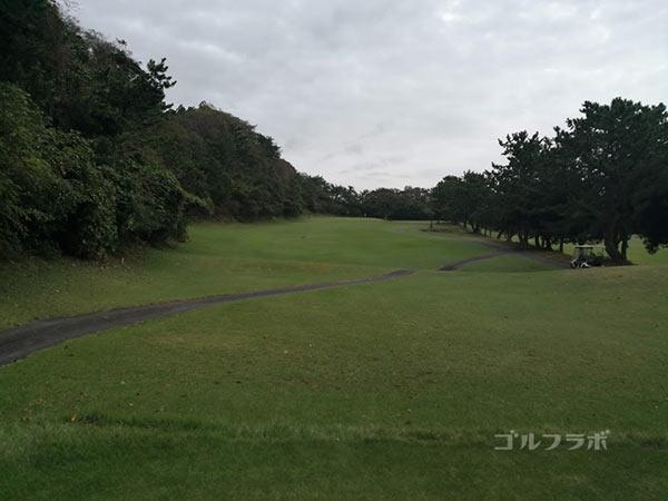 鎌倉パブリックゴルフ場の5番ホールのレディースティ