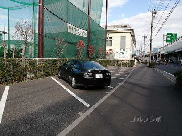 京葉ゴルフセンターの駐車場