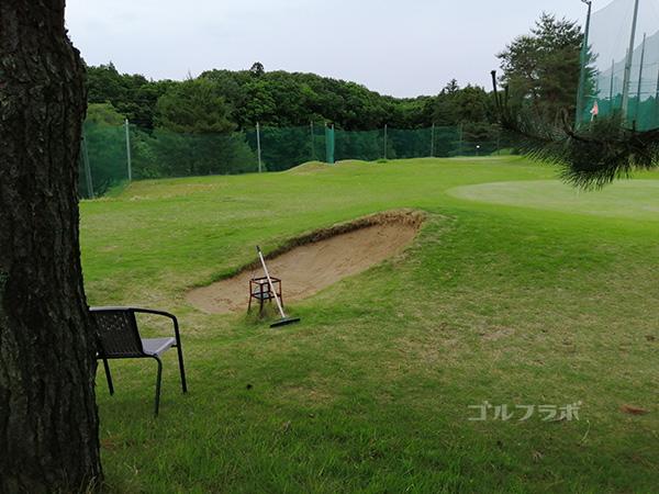 桜ゴルフセンターのバンカー練習場