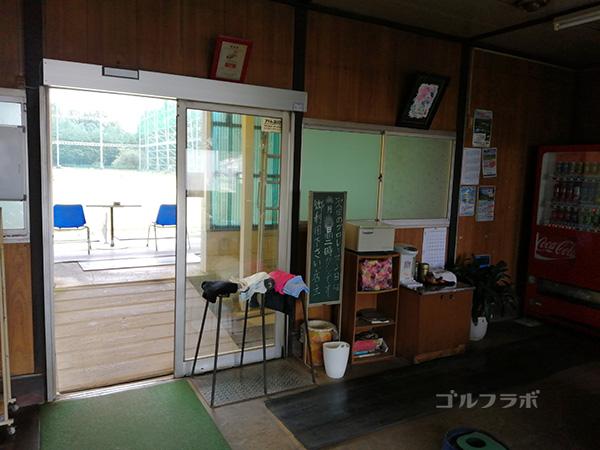 石岡ゴルフセンターのロビー