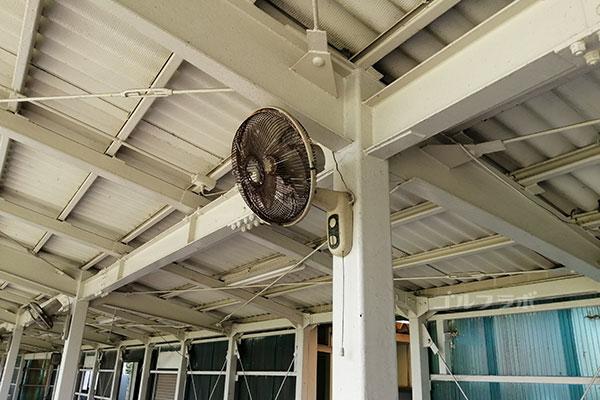 石岡ゴルフセンターの扇風機