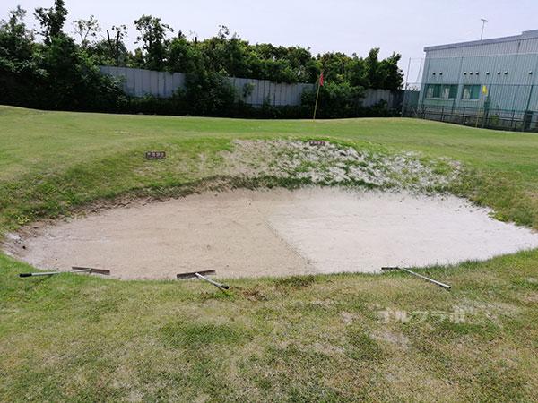 千代田ゴルフセンターのバンカーの練習