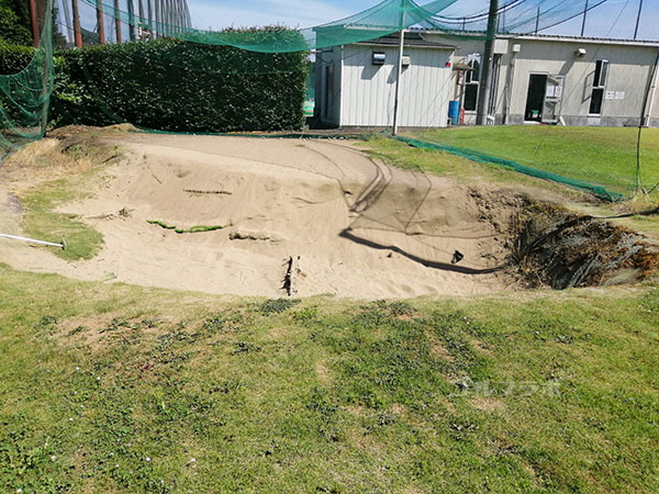 ダイヤゴルフセンター牛久のバンカー練習場