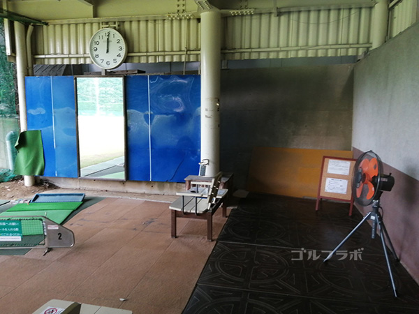 中山ゴルフセンターの1番打席