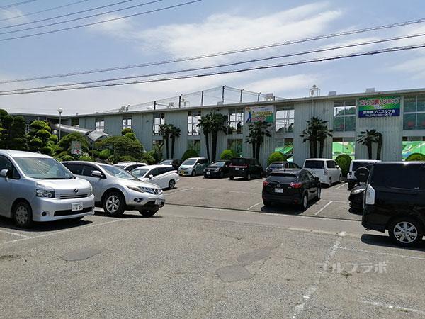 土浦学園ゴルフセンターの駐車場