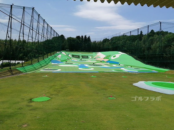 土浦学園ゴルフセンターのドライビングレンジ