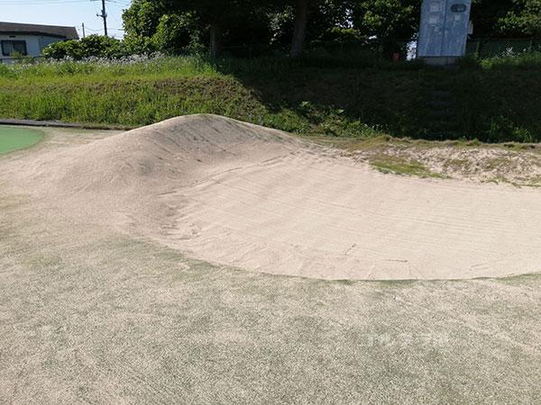 センチュリーゴルフのバンカーの練習場